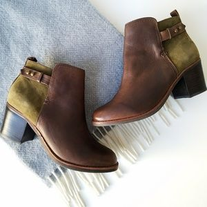 Sperry | Brown Green Leather Ankle Boots Size 7